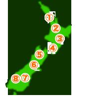 ニュージーランド各都市